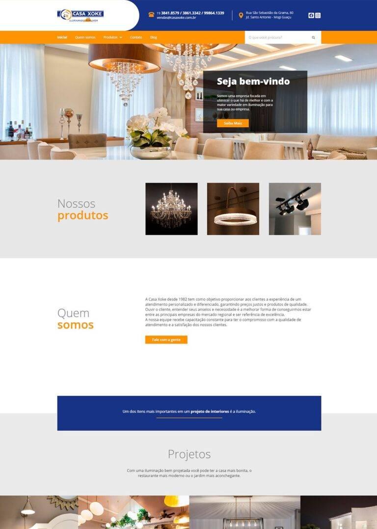 Criação de Sites - Casa Xoke