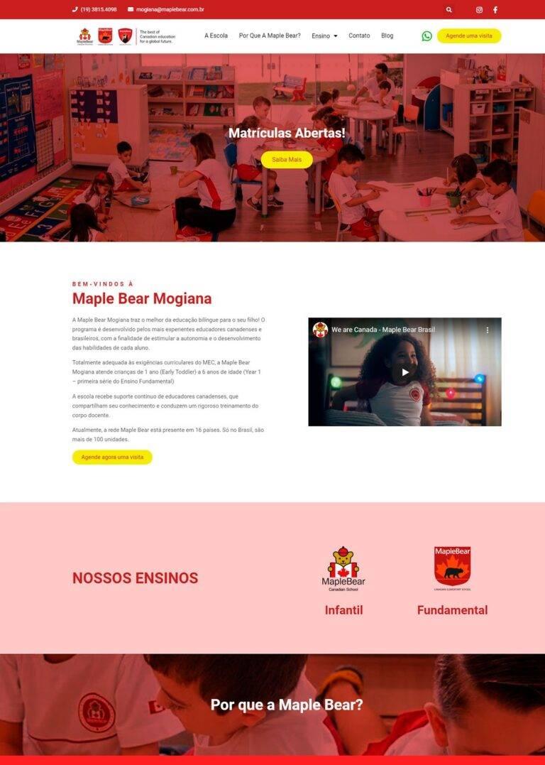 Criação de Sites - Maple Bear