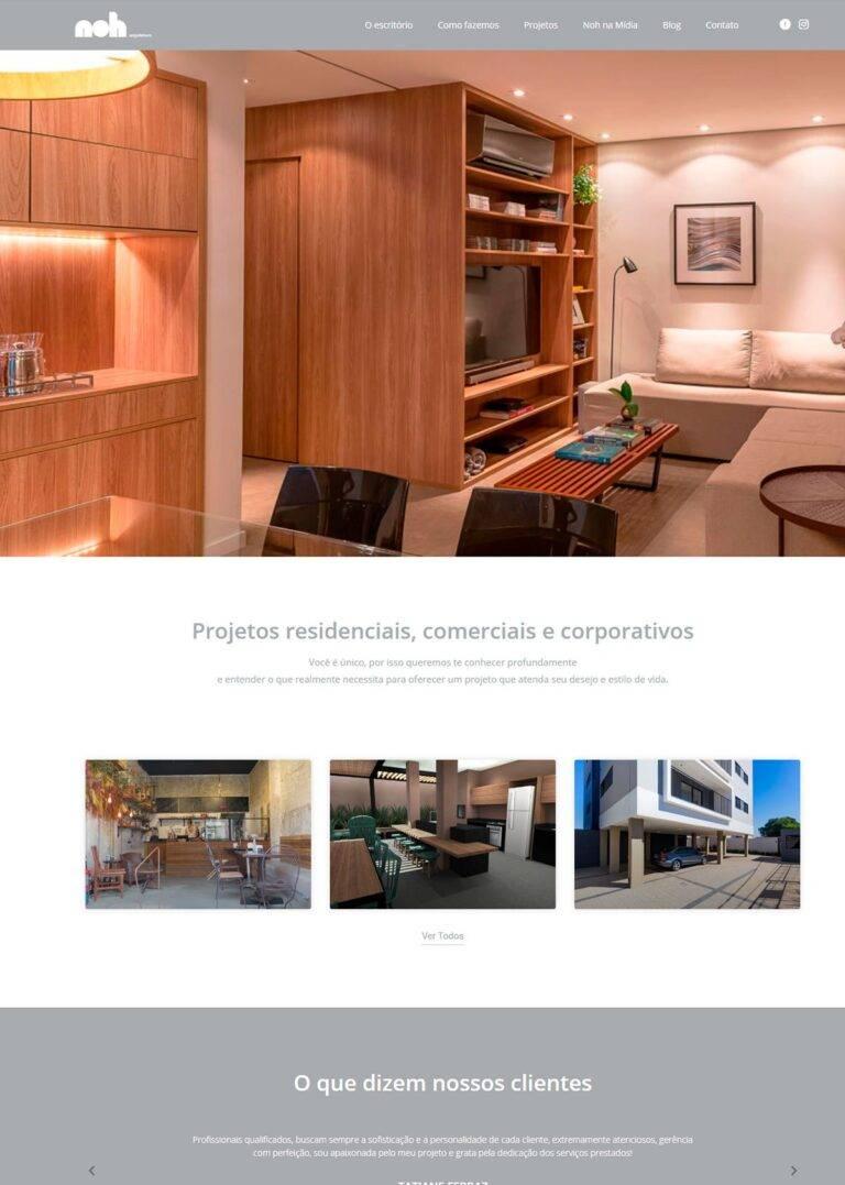 Criação de Sites - Noh Arquitetura