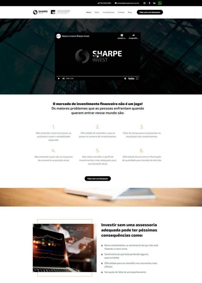 Criação de Sites - Sharpe Invest